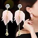 ราคาถูก ตุ้มหู-สำหรับผู้หญิง Cubic Zirconia Drop Earrings Flower Stylish หวาน เรซิน ต่างหู เครื่องประดับ ขาว / สีชมพูอ่อน สำหรับ ทุกวัน 1 คู่