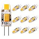 billige Bi-pin lamper med LED-10pcs 1.5 W LED-lamper med G-sokkel 150 lm G4 1 LED perler COB Smuk Varm hvit 12 V