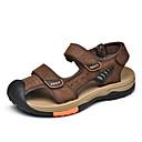 ราคาถูก รองเท้าแตะผู้ชาย-สำหรับผู้ชาย รองเท้าสบาย ๆ แน๊บป้า Leather ฤดูร้อนฤดูใบไม้ผลิ Sporty / ไม่เป็นทางการ รองเท้าแตะ ระบายอากาศ สีดำ / สีน้ำตาล
