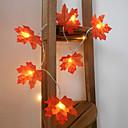 ราคาถูก สายไฟ LED-1 เซ็ต 10 leds สตริงแสงสีแดงใบเมเปิ้ล props ใบเมเปิ้ลไฟกลางคืนวันขอบคุณพระเจ้าวันหยุดตกแต่งบ้านแบตเตอรี่กล่อง