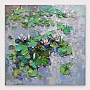 billige Abstrakte malerier-iarts® håndmalte lotusoljemaleri med strukket ramme for hjemmedekorasjon