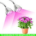 ราคาถูก ไฟปลูกพืช-1pc 28 W 550-614 lm 56 ลูกปัด LED Full Spectrum โคมไฟที่กำลังเติบโต แดง 85-265 V เรือนกระจกผัก