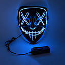 billiga Masker-LED Halloween-mask Inspirerad av Rena Vit Orange LED Lysa upp Halloween Vuxna Herr Dam / Mask / Mask