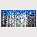 povoljno Apstraktno slikarstvo-styledecor ručno oslikana apstraktna plava šuma ulje na platnu za dom dekor