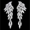 povoljno Naušnice-Žene Viseće naušnice visiti Naušnice Luksuz Elegantno Imitacija dijamanta Naušnice Jewelry Zlato / Pink Za Vjenčanje Party Angažman Dar Klub 1 par