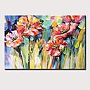 billiga Abstrakta målningar-Hang målad oljemålning HANDMÅLAD - Stilleben Blommig / Botanisk Moderna Inkludera innerram / Sträckt kanfas