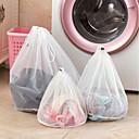 baratos Gadgets de Banheiro-Sacos de malha de roupas com zíperes linhas finas saco de lavanderia com cordão sutiã roupa interior sacos de lavanderia protetora para máquinas de lavar roupa