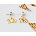 povoljno Modne ogrlice-Žene Sitne naušnice Viseće naušnice Klasičan Stilski Jednostavan Klasik Naušnice Jewelry Obala / Pink / Light Gold Za Klub Festival 1 par