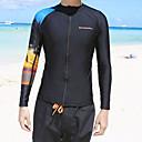 ราคาถูก ชุดดำน้ำ-สำหรับผู้ชาย ดำน้ำที่เหมาะกับสภาพผิว ชุดดำน้ำ รักษาให้อุ่น Full Body ซิปรูดด้านหน้า - การว่ายน้ำ การดำน้ำ ลายต่อ ฤดูร้อน / ความยืดหยุ่นสูง
