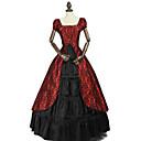 ราคาถูก เสื้อผ้าประวัติศาสตร์และวินเทจ-เจ้าหญิง Rococo Victorian หนึ่งชิ้น ชุดเดรส Party Costume เครื่องแต่งกาย สำหรับผู้หญิง ฝ้าย เครื่องแต่งกาย สีดำ / สีแดง Vintage คอสเพลย์ เสื้อผ้าที่สวมไปงานเต้นรำสวมหน้ากาก พรรคและเย็น เสื้อไม่มีแขน