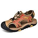 ราคาถูก รองเท้าแตะผู้ชาย-สำหรับผู้ชาย รองเท้าสบาย ๆ หนัง ฤดูร้อนฤดูใบไม้ผลิ Sporty / ไม่เป็นทางการ รองเท้าแตะ ระบายอากาศ สีดำ / สีน้ำตาล