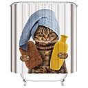 olcso Zuhanyfüggönyök-Shower Curtains & Hooks Kortárs Műanyagok / Poliészter Vízálló / Vicces