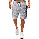 זול קופסא יבשה & תיקים יבשים-בגדי ריקוד גברים ספורטיבי / בסיסי שורטים מכנסיים - דפוס שחור אפור L XL XXL