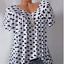 povoljno Tote torbe-Veći konfekcijski brojevi Majica s rukavima Žene Na točkice V izrez Slim Obala