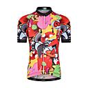 ราคาถูก เสื้อปั่นจักรยาน-Malciklo เด็กผู้ชาย เด็กผู้หญิง แขนสั้น Cycling Jersey - สำหรับเด็ก แดง สัตว์ การ์ตูน จักรยาน Tops ขี่จักรยานปีนเขา Road Cycling ทน UV ระบายอากาศ Moisture Wicking กีฬา Terylene เสื้อผ้าถัก / แห้งเร็ว