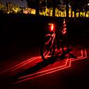 baratos Luzes de Bicicleta & Refletores-Laser LED Luzes de Bicicleta Luz Traseira Para Bicicleta luzes de segurança Ciclismo de Montanha Moto Ciclismo Impermeável Múltiplos Modos Super brilhante Segurança Li-Ion 80 lm Recarregável USB