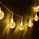 Χαμηλού Κόστους Car Signal Lights-1,5 ίντσες Φώτα σε Κορδόνι 10 LEDs Θερμό Λευκό / RGB / Άσπρο Δημιουργικό / Πάρτι / Διακοσμητικό Μπαταρίες AA Powered 1set
