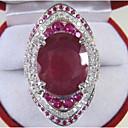 Χαμηλού Κόστους Μοδάτο Δαχτυλίδι-Γυναικεία Δαχτυλίδι Αρραβώνων Γκριζογάλανο 1pc Κόκκινο Χαλκός Geometric Shape Στυλάτο Πολυτέλεια Πάρτι Αρραβώνας Κοσμήματα Κλασσικό Χαρά Απίθανο
