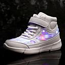 זול LED Shoes-בנים / בנות נעליים זוהרות PU נעלי ספורט פעוט (9m-4ys) / ילדים קטנים (4-7) / ילדים גדולים (7 שנים +) הליכה LED לבן / שחור / ורוד אביב / סתיו / גומי