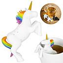billige Kaffe og te-unicorn form silikon te infuser strenge filter løs te pose blad urte