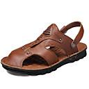 ราคาถูก รองเท้าแตะผู้ชาย-สำหรับผู้ชาย รองเท้าสบาย ๆ หนัง ฤดูใบไม้ผลิ / ฤดูร้อน Sporty / ไม่เป็นทางการ รองเท้าแตะ ระบายอากาศ สีน้ำตาล / กลางแจ้ง