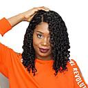 povoljno Perike s ljudskom kosom-Ljudska kosa Lace Front Perika Bob frizura Kratak Bob stil Brazilska kosa Kovrčav Wavy Crna Perika 130% Gustoća kose s dječjom kosom Prirodna linija za kosu Za crnkinje 100% Djevica 100% rađeno rukom
