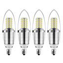 Χαμηλού Κόστους Λάμπες Σφαίρα LED-4pcs 12 W LED Λάμπες Κεριά 1200 lm E12 72 LED χάντρες SMD 2835 Διακοσμητικό Θερμό Λευκό Ψυχρό Λευκό 85-265 V