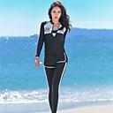 ราคาถูก จิ๊กซอว์3D-JIAAO สำหรับผู้หญิง ดำน้ำที่เหมาะกับสภาพผิว ชุดดำน้ำ แห้งเร็ว แขนยาว ซิปรูดด้านหน้า - การว่ายน้ำ กีฬาทางน้ำ สีพื้น ฤดูร้อน / ผสมยางยืดไมโคร
