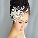 Χαμηλού Κόστους Αξεσουάρ κεφαλής για πάρτι-Χάντρες Κομμάτια μαλλιών με Πέρλες / Λουλούδι 1 Τεμάχιο Γάμου / Πάρτι / Βράδυ Headpiece