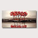 billige Abstrakte malerier-Hang malte oljemaleri Håndmalte - Abstrakt Abstrakte Landskap Moderne Inkluder indre ramme / Stretched Canvas
