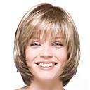 billiga Syntetiska peruker utan hätta-Syntetiska peruker Lugg Naturlig Straight Bob-frisyr Peruk Guld Korta Ljusguldig Syntetiskt hår 14 tum Dam Moderiktig design Len Dam Guld / Ombre-hår