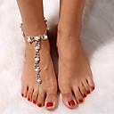 ราคาถูก กระเป๋าสะพายข้าง-สำหรับผู้หญิง รองเท้าเท้าเปล่า Stylish ไข่มุกเทียม สร้อยข้อเท้า เครื่องประดับ สีเงิน สำหรับ การเดินทาง / พลอยเทียม