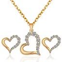 billiga Jewelry Set-Dam Brud Smyckeset Hjärta Romantisk Ljuv örhängen Smycken Guld Till Bröllop Party 1set