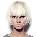 billige Syntetiske parykker med blonde-Syntetiske parykker Kinky Glatt Midtdel Parykk Lang Hvit Syntetisk hår 12 tommers Dame Fargegradering Hvit