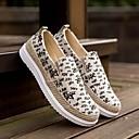 ราคาถูก รองเท้าแตะ & Loafersสำหรับผู้ชาย-สำหรับผู้ชาย รองเท้าสบาย ๆ ผ้าใบ ฤดูใบไม้ผลิ รองเท้าส้นเตี้ยทำมาจากหนังและรองเท้าสวมแบบไม่มีเชือก สีดำ / สีเทา / แดง