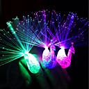 billige Fuskediamant-1pc 3D nattlys Hvit Knapp batteridrevet Fargeskiftende <5 V