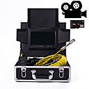 baratos Microscópios & Endoscópios-Endoscópio industrial de lente de 23 mm 20m / 30m / 40m / 50m comprimento de trabalho display de 9 polegadas com função de câmera de vídeo reparação de automóveis