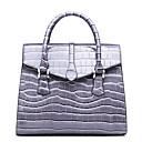 ราคาถูก กระเป๋า Totes-สำหรับผู้หญิง PU กรเป๋าหิ้ว หนังงู สีดำ / สีน้ำตาล / สีเทาอ่อน