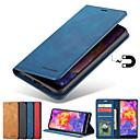 billige Sports hodetelefoner-Etui Til Samsung Galaxy S9 / S9 Plus / S8 Plus Kortholder / med stativ / Magnetisk Heldekkende etui Ensfarget Hard PU Leather