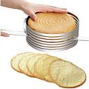 Χαμηλού Κόστους Μαγειρικά Σκεύη Κατασκήνωσης-αναδιπλούμενη κυκλική φόρμα κέικ στρωματοποιημένο κέικ δαχτυλίδι από ανοξείδωτο χάλυβα ρυθμιζόμενο κέικ φέτα κιτ εργαλείο ψησίματος