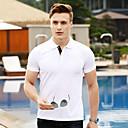 ราคาถูก เสื้อยืดปีนเขา-สำหรับผู้ชาย สีทึบ Hiking T-shirt POLO Shirt แขนสั้น กลางแจ้ง ระบายอากาศ แห้งเร็ว นุ่ม เสื้อยึด Tops ฤดูร้อน ฝ้าย คอวี Cream สีเทา สีน้ำเงินเข้ม การตกปลา แคมป์ปิ้ง / การปีนเขา / เที่ยวถ้ำ การเดินทาง