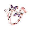 halpa Sormukset-Naisten Band Ring Sormus Kokosormen sormus 1kpl Hopea Ruusukulta Platinum Plated Ruusukulta-päällystetty Timanttijäljitelmä Tyylikäs Yksinkertainen Eurooppalainen Häät Lahja Korut Butterfly