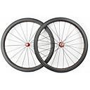 ราคาถูก ล้อจักรยาน-FARSPORTS 700CC ชุดล้อ จักรยาน 28 mm ถนน คาร์บอนไฟเบอร์ ยางงัด 20/24 Spokes 45 mm