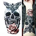 billiga ärm tatuering-3 pcs tillfälliga tatueringar Vattenavvisande / Bästa kvalitet brachium Tatueringsklistermärken