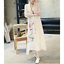 povoljno Modne naušnice-Žene Vintage Kinezerije Swing kroj Haljina - Print, Geometrijski oblici Midi