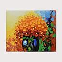 ราคาถูก ภาพวาดแอบสแตรก-ภาพวาดสีน้ำมันแขวนทาสี มือวาด - ลวดลายดอกไม้ / เกี่ยวกับพฤษศาสตร์ ที่ทันสมัย รวมถึงด้านในกรอบ / ผ้าใบยืด