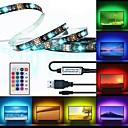 ราคาถูก ไฟเส้น LED-Brelong® 3m ไฟแถบ rgb 90 ไฟ led 5050 smd 10 มิลลิเมตร 1 24 ปุ่มควบคุมระยะไกล rgb กันน้ำ / cuttable / usb 5 โวลต์ 1 ชิ้น