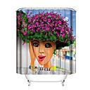 זול וילונות למקלחת-וילונות וווים למקלחת עכשווי פלסטיק / פּוֹלִיאֶסטֶר עמיד במים / עיצוב חדש