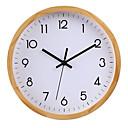 """ราคาถูก นาฬิกาติดผนัง-สไตล์สมัยใหม่ DIY ทำด้วยไม้ รอบ ในที่ร่ม / กลางแจ้ง 30 * 30 ซม (12 """"* 12"""")"""