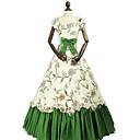 ราคาถูก เสื้อผ้าประวัติศาสตร์และวินเทจ-เจ้าหญิง Rococo Victorian หนึ่งชิ้น ชุดเดรส Party Costume เครื่องแต่งกาย สำหรับผู้หญิง ฝ้าย เครื่องแต่งกาย สีเขียว Vintage คอสเพลย์ เสื้อผ้าที่สวมไปงานเต้นรำสวมหน้ากาก พรรคและเย็น เสื้อไม่มีแขน